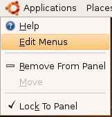 Edit GNOME Menu