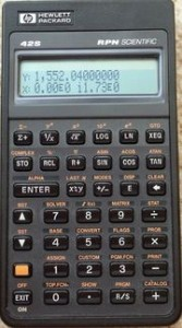 HP42S Calculator
