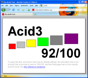 Acid3-Firefox 3.5b4