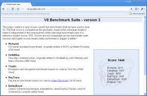 V8 Benchmark-Chrome