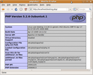 Testing PHP Installation