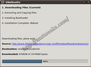 UNetbootin Downloading FreeDOS