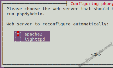 Reconfigure phpMyAdmin for Apache